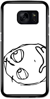 Meme Thinking Face Black and White Emoticon Emoji case for Samsung Galaxy S7