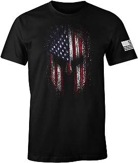 USA Flag American Spartan Patriotic Men's T Shirt
