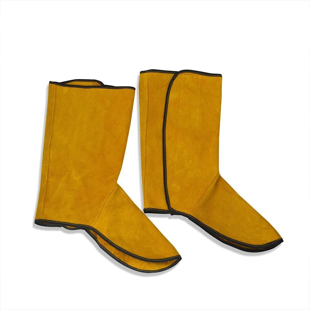 Cowhide Leather Welding Spats Heat Resistant Weldi Abrasion Surprise price and Over item handling
