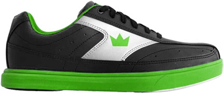 Brunswick Mens Renegade Bowling shoes- Black Neon Green