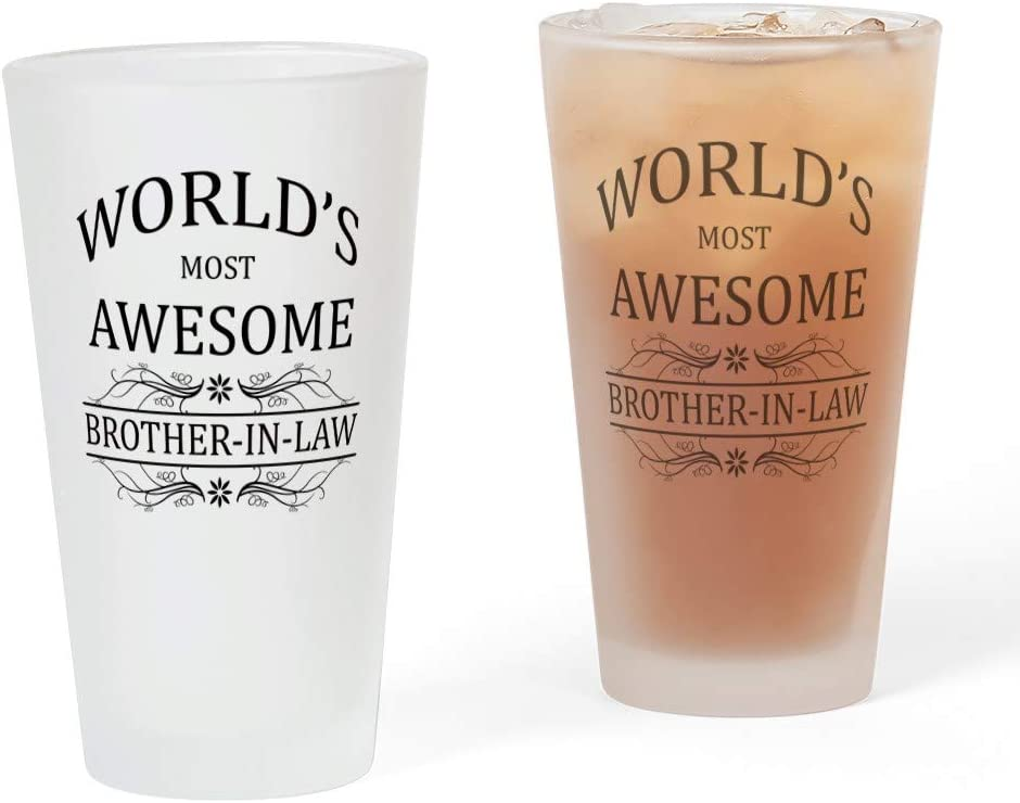 Dallas Limited time for free shipping Mall CafePress World's Most Awesome Brother In Pint Law Glass oz. 16