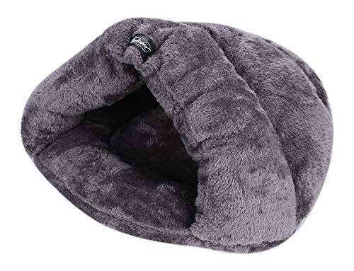 IBLUELOVER - Caseta para gato, cama, perro, cachorro, casa, interior, triángulo, cama, mascota, manta plegable, regalo de Navidad