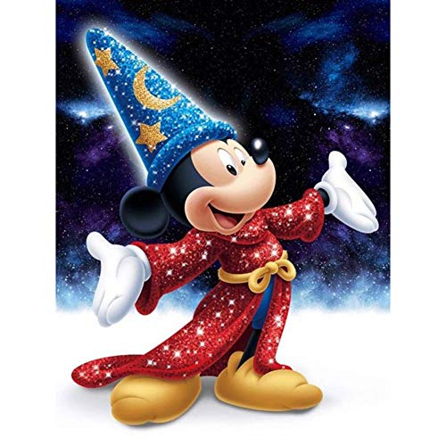 DIY 5D Diamond Painting Kits for Adults and Kids, 16'X12' Disney Mickey Mouse Full Drill Crystal Rhinestone Embroidery Arts Craft Canvas Cross Stitch for Home Wall Decor
