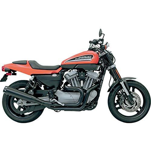 Scarico 2 in 1 Road Rage II B1 Power NERO Megafono BASSANI Harley Davidson XR