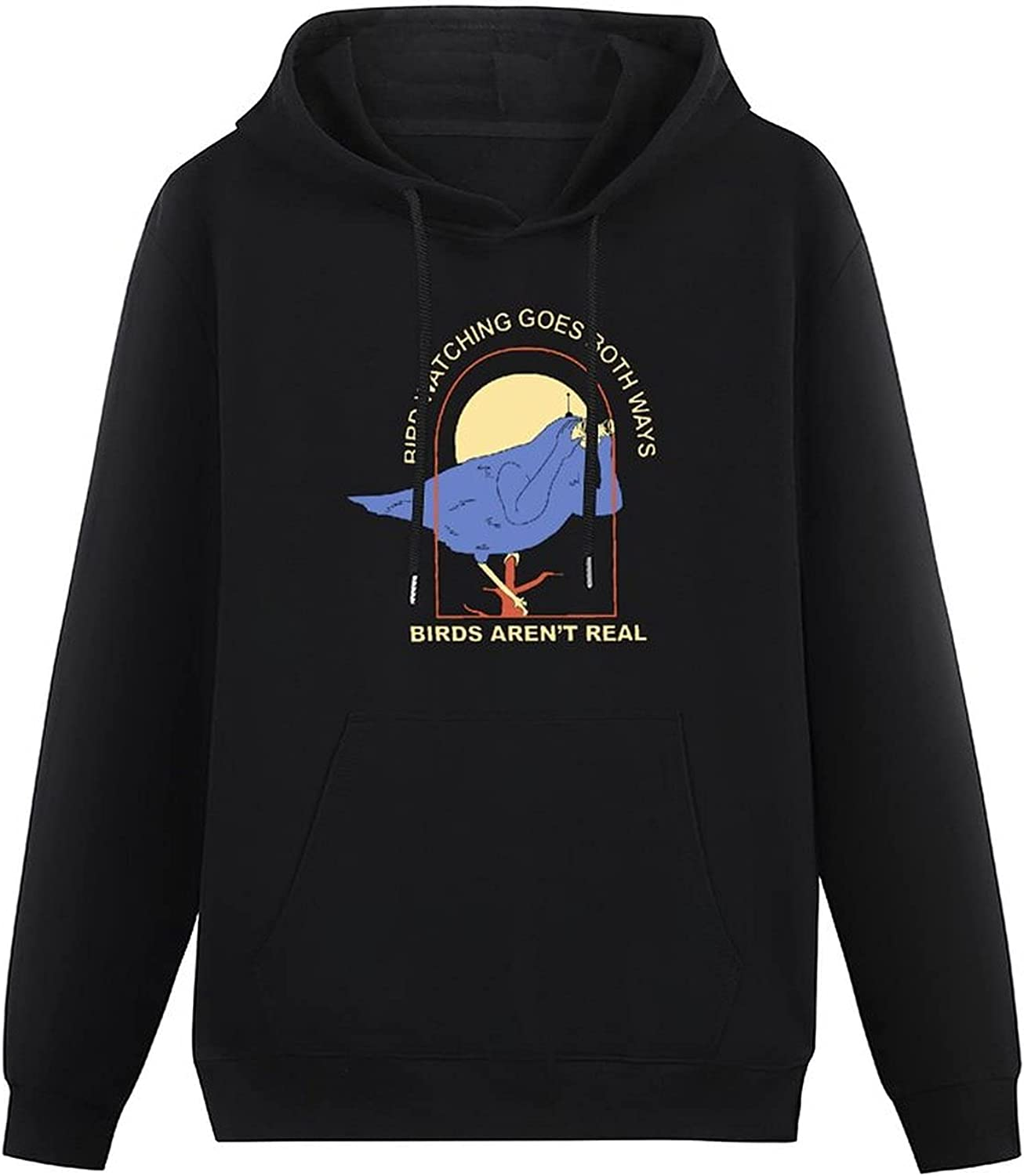 ENXOWM Bird aren't Real-15 Hooded Sweater with Pockets Male Casual Fashion Soft Cotton