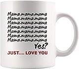 Divertida taza de café de cerámica blanca con huellas para niños, para mujeres, hombres, niños, mamá, papá, amigos
