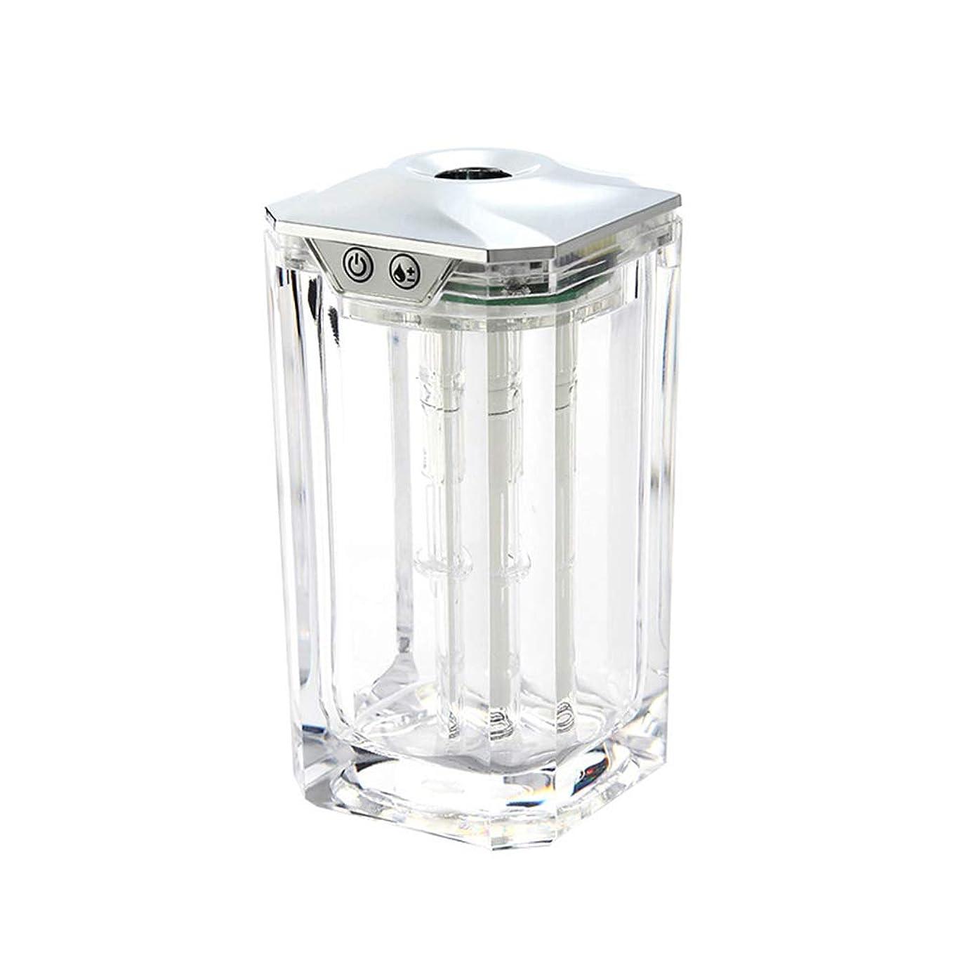 コントラストシエスタ滑りやすいミニ Usb アクリル 加湿器,涼しい霧 精油 ディフューザー 手動 加湿機 調整可能 エアコン アロマネブライザー 事務所の ベッド 車-透明 120ml