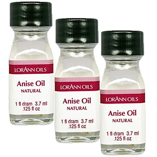 LorAnn Anise Oil Super StrengthNatural Flavor, 1 dram bottle (.0125 fl oz - 3.7 ml) - 3 pack