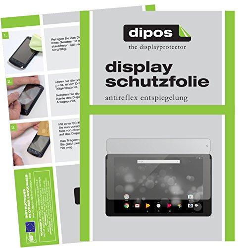 dipos I 2X Schutzfolie matt kompatibel mit TrekStor PrimeTab P10 Folie Bildschirmschutzfolie