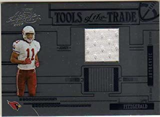 f80d2b601dd 2005 Absolute Memorabilia Tools of the Trade Material Blue #54 Larry  Fitzgerald Game-Worn
