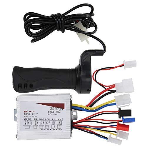 Controlador Bicicleta eléctrica 12V 500W Velocidad Juego de empuñadura del Acelerador Accesorio para Bicicleta eléctrica