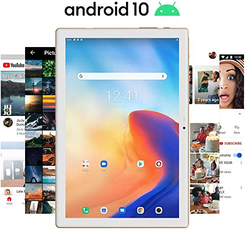 Blackview Tab 8E Tablet 10.1 Zoll, 1920x1200 FHD IPS Display Android 10 Octa-Core Prozessor Tablet PC mit 6580mAh Akku, 13MP+5MP Kamera, 3GB RAM, 32GB Speicher, 5G WiFi GPS OTG Type-c (Gold)