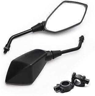 Moto Guidon Vue arri/ère Miroirs ronde Convex clip sur Retro Moto Accessoires Convient for une vue arri/ère de voitures de rue Universal Rearview Mirror Accessoires moto Modifi/é Rearview Mirror scoo