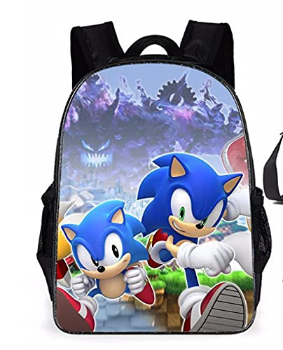 Sonic School Bag hombres mujeres mochila anime juego mochila mochila mochila niños jardines de infancia adolescente bolsa de juegos bolsa de hombro bolsa mochila