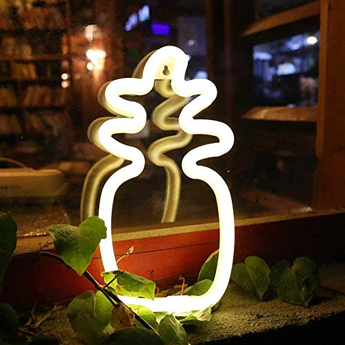 Piña de luz de neón lámpara de decoración para el hogar decoración de pared para Navidad fiesta de cumpleaños sala de niños sala de estar decoración de fiesta de bodas