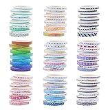 Washi Tape, juego de 90 rollos de cinta adhesiva decorativa para bricolaje, cinta adhesiva adhesiva multicolor para álbumes de recortes, envoltura de regalos, suministros de manualidades
