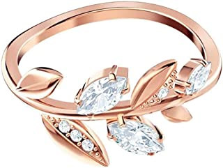 SWAROVSKI Womens Mayfly Ring 52, White, Rose-Gold Tone Plated 5441190