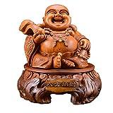 J.Mmiyi Feng Shui Estatua Adornos Buda Riéndose Dios De La Riqueza Maitreya Escultura Hogar Oficina ...