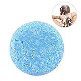 Jabones Naturales, Champú Orgánico Procesado en Frío del Champú de la Canela del Pelo Hecho a Mano 100% Pure Hair Shampoo(Azul)