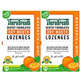 TheraBreath Dry Mouth Lozenges with Zinc, 100 Lozenges, Mandarin Mint, 100 Count (Pack of 2), 200 Count