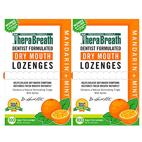 TheraBreath Dry Mouth Lozenges with Zinc, 100...
