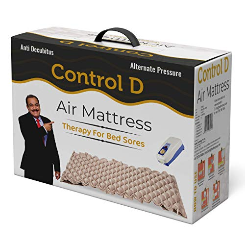 Control D Alternating Pressure Pad - Air Mattress Pad and Electric Pump System - Quiet, Inflatable Bed Air Topper for Pressure Ulcer Sore Treatment - Fits Standard Hospital Bed for Bedridden Patients