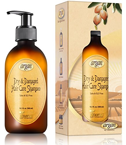 Vitamins Argan Shampoo for Dry Damaged Hair - Hydrating Moisturizing Deep Cleansing Shine Gloss Repair Treatment Clarifying Shampoo for Hair and Scalp