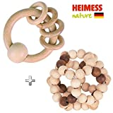 Heimess Nature Collection, Sonajero Sensory, 2 Unidades, Made in Germany