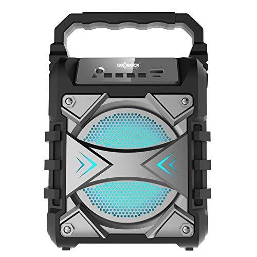 GO-ROCK Altavoz portátil con función Bluetooth (4.2+EDR) y Karaoke. Potencia 5W. con...