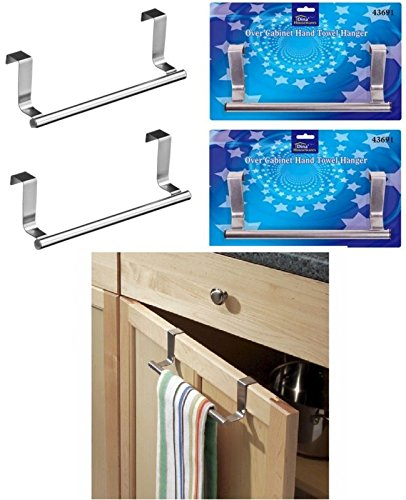 2 soportes para toallas de mano para colgar en la puerta de la cocina o armario de la toalla, 23 cm