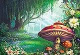 Pintura de diamante 5D DIY,Seta de flor de árbol forestal,Bordado de diamantes redondos completos, punto de cruz, imagen de arte con diamantes de imitación, decoración de pared