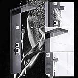 Panneau de Douche Thermostatique en Acier Inoxydable Colonne de Douche Hydromassante avec Ecran Affichage LCD Ensemble de Douche Mural, Kit de Douchette pour Salle de Bain