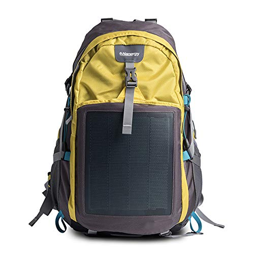 HANERGY Solar Charging Hiking Camping Backpack with Built-in 10.6W Solar Panels, Outdoors Emergency...