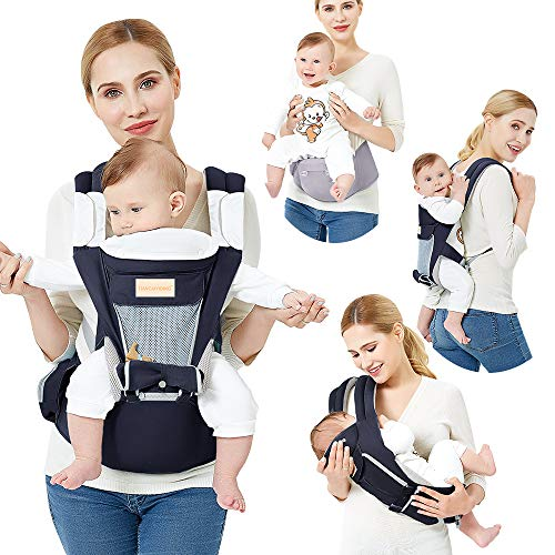 Baby Carrier Front and Back Hip Seat Carrier Waist Stool with Baby Ergonomic Carriers for Newborn Infant Toddler Child, Navy