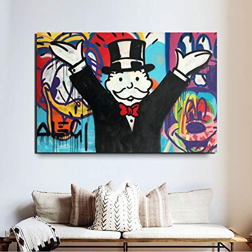 KWzEQ Erweitern Sie Hand Leinwand Bild Wandkunst Malerei Dekoration Moderne Wohnkultur,Rahmenlose Malerei,30x45cm