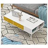Mesa de Centro Habitación pensión Creativa Mesa Simple nórdica pequeña Mesa de Centro Home Living Artificial té de Mesa Fin Mesa de Café (Color : White)