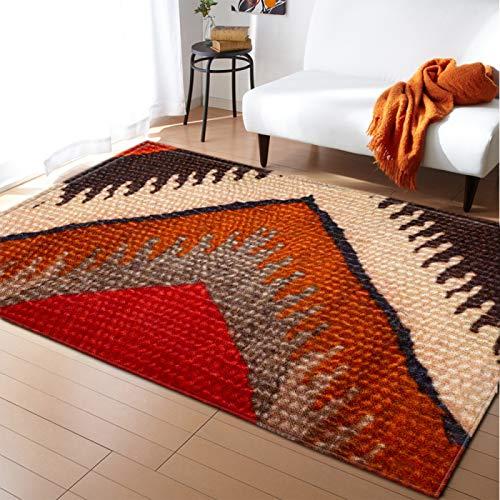 DRTWE Moderno hogar decoración Alfombra Antideslizante Sala de Estar Dormitorio Cocina Piso Mat Vintage Nordic Rojo Floral alfombras Pasillo Corredor Rectangular,200 * 300cm