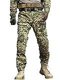 TRGPSG Pantaloni Tattici Militari da Uomo Pantaloni Cargo mimetici BDU Casual Pantaloni da Lavoro Multi Tasche Trekking Impermeabile Pantaloni da Caccia Militari Tattici Pantaloni WG3F CP Camo
