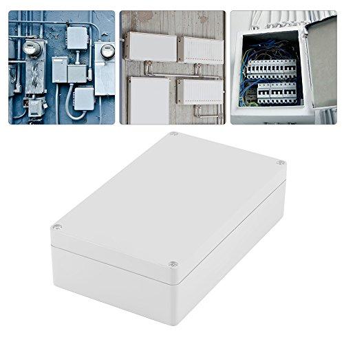 Caja de conexiones a prueba de agua, 200 × 120 × 56 mm Caja de proyectos de aluminio extruido, Plástico ABS a prueba de polvo Caja de conexiones IP65 a prueba de agua Caja de conexiones universal para
