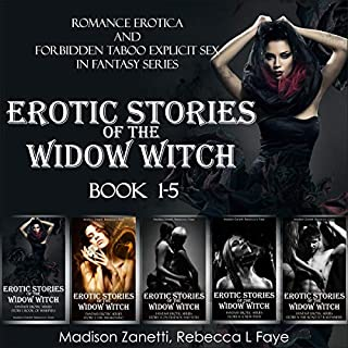 Erotic Stories of the Widow Witch - Romance Erotiсa and Forbidden Taboo Explicit Sex in Fantasy Series - Book 1-5 audiobook cover art