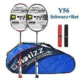 Whizz Kratzfestes Design Badminton Schläger Racket Set mit Tasche Griffband