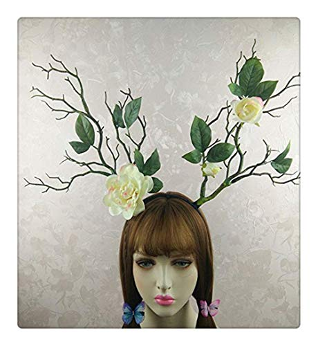 Z-one 1 Gothic Forest Tree Photography Props Simulation Headdress Gardenia Crown Garland Flower Cosplay