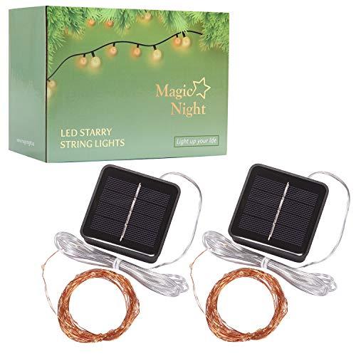 Solar Mini Teeny winzige Lichter, Sternen String Licht für Garten Fee, Baum, Geländer, Arbor, Zaun, 16 Fuß 50 LEDs, 2 Pack