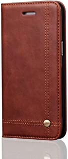 Protective Case Compatible with Samsung Retro Business Slim Flip Folio Wallet PU Leather Magnetic Protective Case Cover with Card Slots, Stand Holder Compatible Samsung Galaxy S8 Phone case