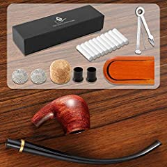 Joyoldelf Tobacco Pipe, Churchwarden Rosewood Smoking Pipe with Pipe Stand, Pipe Bit, 3-in-1 Scraper, Pipe Filter, Cork Knocker, Metall Ball & Delicate Gift Box #1