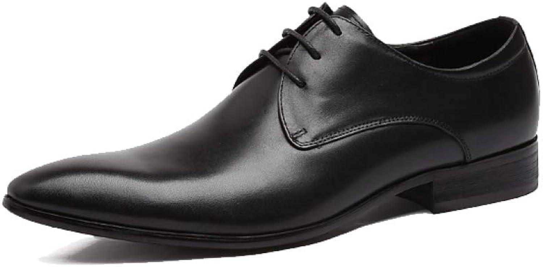 YCGCM Mans läder skor, Business, Atmosphere, bröllop skor, Points, Comfortable, Simple