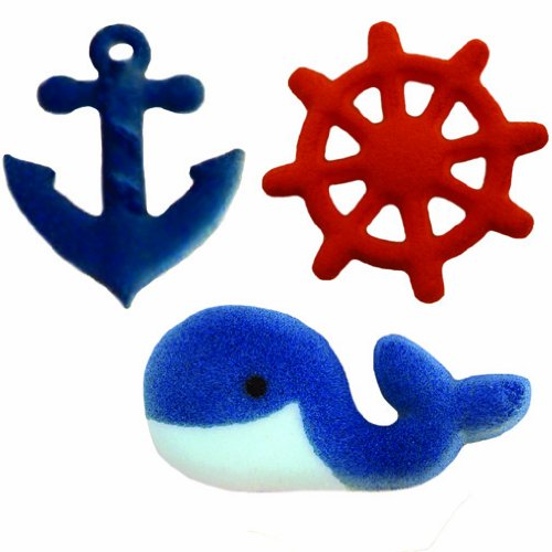 Lucks Dec-Ons Decorations Molded Sugar/Cup-Cake Topper, Nautical Assortment, 1 1/4 - 2 Inch, 84 Count