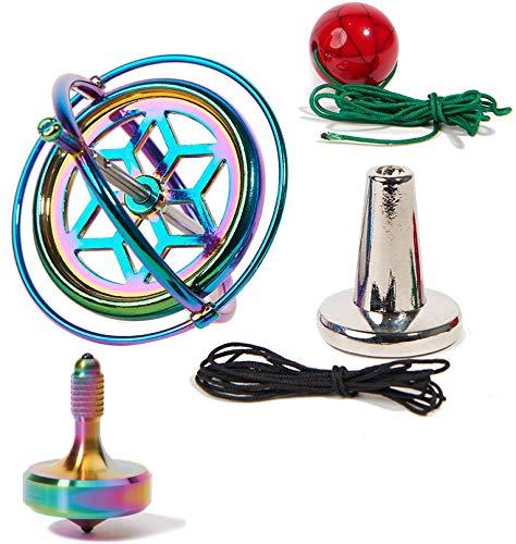 Joytech Exquisite Spinning Top Precision Gyroscope Kill Time Metal Anti-Gravity Perfect Balance Desktop Toy T016-JA05