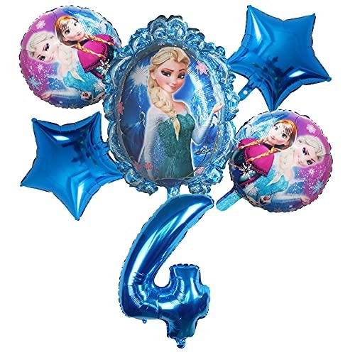 ENXI Globos 6 unids Disney congelado Princesa Elsa Helio Globos número Bola Baby Baby Ducha Decoraciones Globos niños Juguete Fiesta Fiesta de cumpleaños Globos de Aire ( Color : Burgundy )