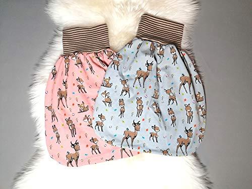 Sommerschlafsack Baby Pucksack Strampelsack Rehe auf graublau oder altrosa